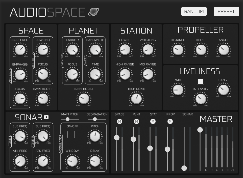 AudioSpace interface