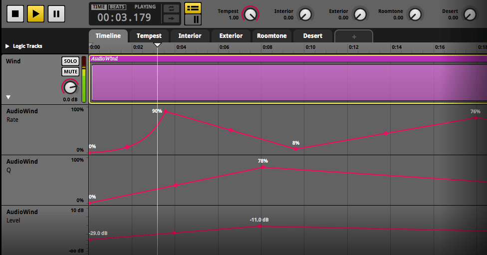 Fmod AudioWind - RTPC